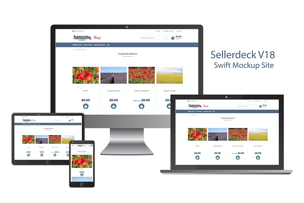 Sellerdeck V18 Swift example site